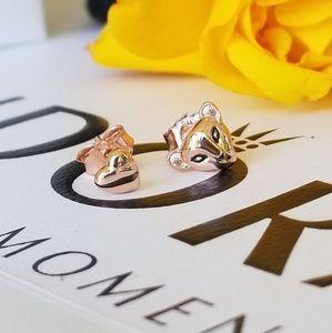 Original Pandora lion earrings